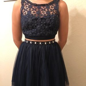 Dresses & Skirts - Navy 2 Piece Homecoming/Formal/Prom Dress